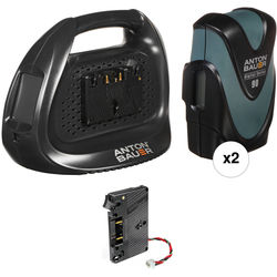 Anton Bauer Digital 90 Two-Battery Kit for URSA with Charger (Gold Mount)