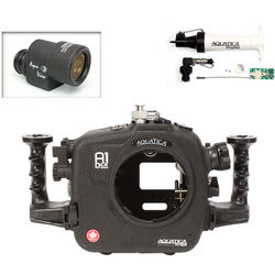 Aquatica A1Dcx Pro Underwater Housing for Canon EOS-1D C or 1D X with Aqua VF and Vacuum Check System (Ikelite Manual Strobe Connector)