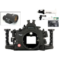 Aquatica AD810 Pro Underwater Housing for Nikon D810 with Aqua VF and Vacuum Check System (Dual Nikonos Strobe Connectors)