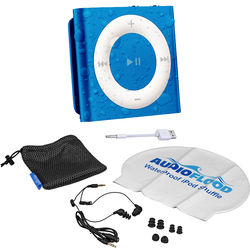 AUDIOFLOOD 2GB Waterproof iPod Bundle (Dark Blue)