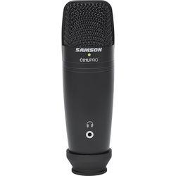Samson C01U Pro-Black USB Studio Condenser Microphone (Exclusive Black)