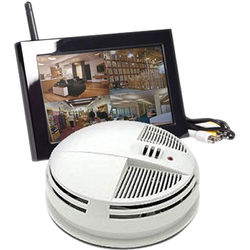 KJB Security Products C1545 SleuthGear Zone Shield Night Vision Smoke Detector QUAD LCD (Side View)