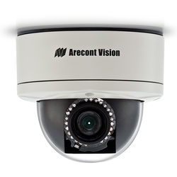 Arecont Vision MegaDome2 AV1255PMIR-S 1.2MP H.264 All-in-One Motorized P-Iris Lens True Day/Night IR Indoor/Outdoor Dome IP Camera with STELLAR Technology (3-9mm Wide Angle Lens)