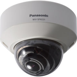 Panasonic 5 Series WV-SFN531 2.4MP Day/Night Network Dome Camera with 2.8 to 9.5mm Varifocal Lens (Sail White)