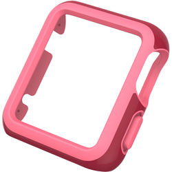 Speck CandyShell Fit Case for 42mm Apple Watch (Crimson Red/Splash Pink)