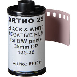 Rollei Ortho 25 Black and White Negative Film (35mm Roll Film, 36 Exposures)