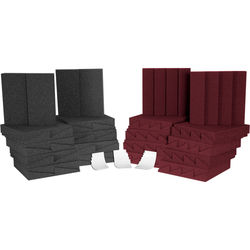 Auralex D36 (Charcoal Grey/Burgundy) Roominators Kit