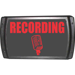 American Recorder OAS-2002-RD RECORDING Sign with LEDs (English, Red)