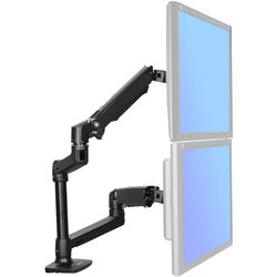 Halter Adjustable Dual Monitor Arm (Black)