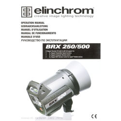 Elinchrom BRX 250/500 Instruction Book