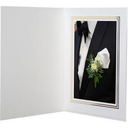 "National Photo Folders Premier Photo Folder (5 x 7"", 25-Pack, White)"