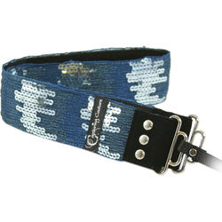 Capturing Couture Sequin Ombre Teal Sparkle Collection Guitar Strap