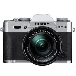 Fujifilm X-T10 Mirrorless Digital Camera with 16-50mm Lens (Silver)