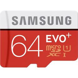 Samsung 64GB EVO+ UHS-I microSDXC U1 Memory Card (Class 10) with Adapter