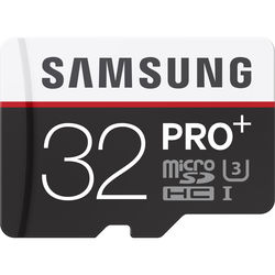 Samsung 32GB PRO+ UHS-I microSDHC U3 Memory Card (Class 10) with Adapter