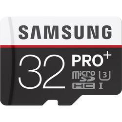 Samsung 32GB PRO+ UHS-I microSDHC U3 Memory Card (Class 10) with Adapter