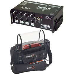 Rolls MX124 Portable 4-Channel Stereo Mixer & Carry Bag Kit