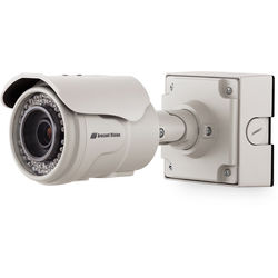Arecont Vision MegaView 2 Series 5MP Indoor/Outdoor Vandal-Resistant IR Day/Night Bullet IP Camera with 2-Way Audio Support, SDHC Card Slot, & 3.6 to 9mm P-Iris Lens