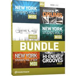 Toontrack Session Drummers MIDI 6 Pack - Drum MIDI Packs (Download)