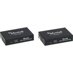 MuxLab LongReach CCTV IP PoE Extender Kit for 30W Camera