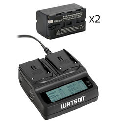 Watson NP-F770 Two-Battery Kit with Duo LCD Charger