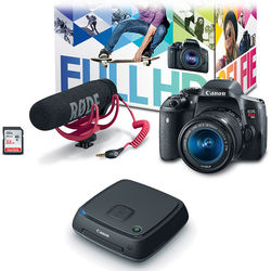 Canon EOS Rebel T6i DSLR Camera with 18-55mm Lens Video Creator Kit with Connect Station