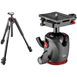 Manfrotto MT190XPRO3 Aluminum Tripod and XPRO Ball Head with Top Lock Quick-Release System