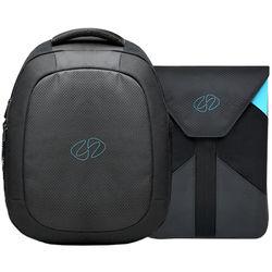 "MacCase MBPBP-13 MacBook Pro Backpack with 13"" Sleeve (Black/Cyan)"