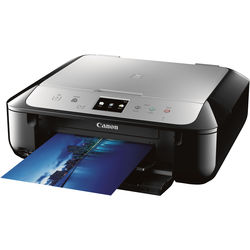 Canon PIXMA MG6821 Wireless Photo All-in-One Inkjet Printer (Black/Silver)