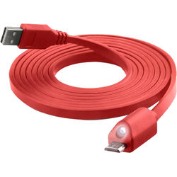 Naztech Micro-USB LED Charge & Sync Cable 6' (Red)