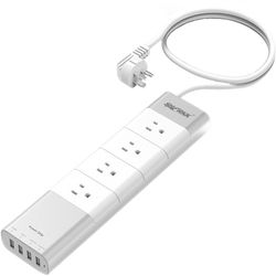 SHARKK 4-Outlet and 4-USB Surge Protector