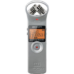 Zoom H1 Ultra-Portable Digital Audio Recorder (Silver)
