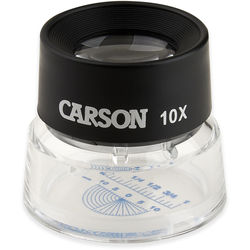 Carson LL-20 10x LumiLoupe with Reticle