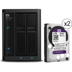 WD My Cloud Business Series DL2100 8TB (2 x 4TB) 2-Bay NAS with WD Purple NV Drives
