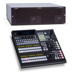For.A HVS-390HS HD/SD 2M/E Switcher with HVS-392ROU 12 Button Panel