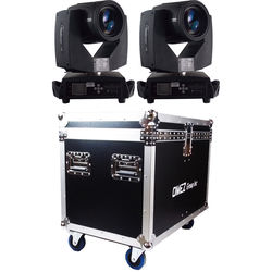 OMEZ TitanBeam 7R Moving Head Beam LED Fixture with Dual 2R Case (2-Pack)