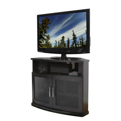 PLATEAU Newport 40 Corner TV Stand (Black Oak)