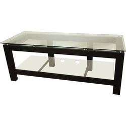 PLATEAU SL-2V 50 TV Stand with Clear Glass