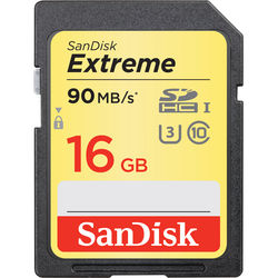 SanDisk 16GB Extreme UHS-I SDHC Memory Card