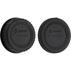 Sensei Body Cap and Rear Lens Cap Kit for Nikon F-Mount