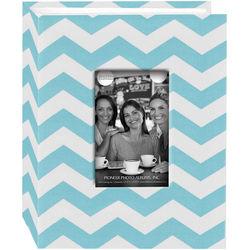 Pioneer Photo Albums Cloth Album with Frame (Chevron, Aqua)