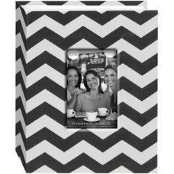 Pioneer Photo Albums Cloth Album with Frame (Chevron, Black)