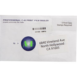 A&I Processing and Printing Mailer for 35mm Color Negative Film