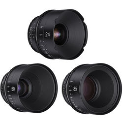 Rokinon Xeen 24, 50, 85mm T1.5 Lenses for MFT Mount