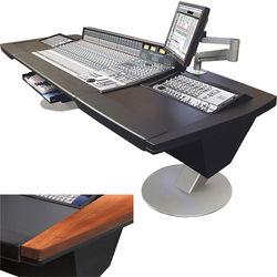 Argosy Mirage Desk for Solid State Logic AWS 900+ / AWS 924 / AWS 948 Workstation with Dual 6 RU Rack Modules (Mahogany Hardwood)
