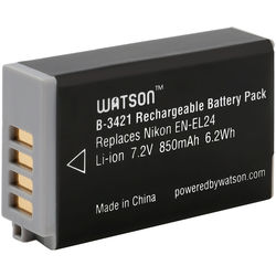 Watson EN-EL24 Lithium-Ion Battery Pack (7.2V, 850mAh)