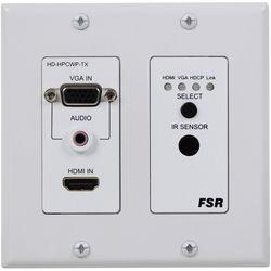 FSR HD-HPCWP-Tx HDBaseT 2-Gang Decora-Style Wall Plate Transmitter (330' Range)