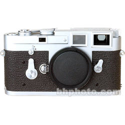 Leica M3 Double Stroke 35mm Rangefinder Camera in Chrome with Deep Lizard Leather Skin