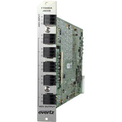 Evertz Microsystems 7700DA-AESB Auto Equalizing Balanced AES/EBU Distribution Amplifier with 3RU Rear Plate