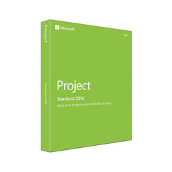 Microsoft Project Standard 2016 for Windows (1-User License, Product Key Code)